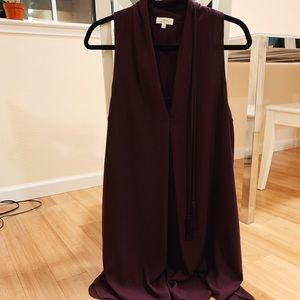 Aritzia Wilfred Dress - Wine Burgundy - M